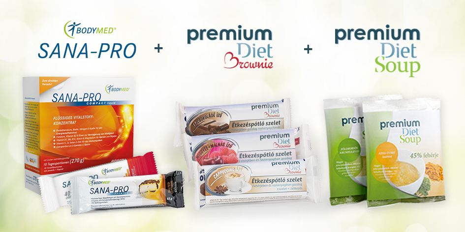 Premium Diet Soup, Brownie, Mousse