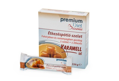 Premium Diet Brownie karamellás